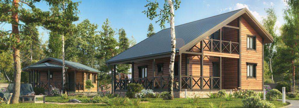 Деревянный дом от компании АвторСтрой - Каталог услуг от компании ...