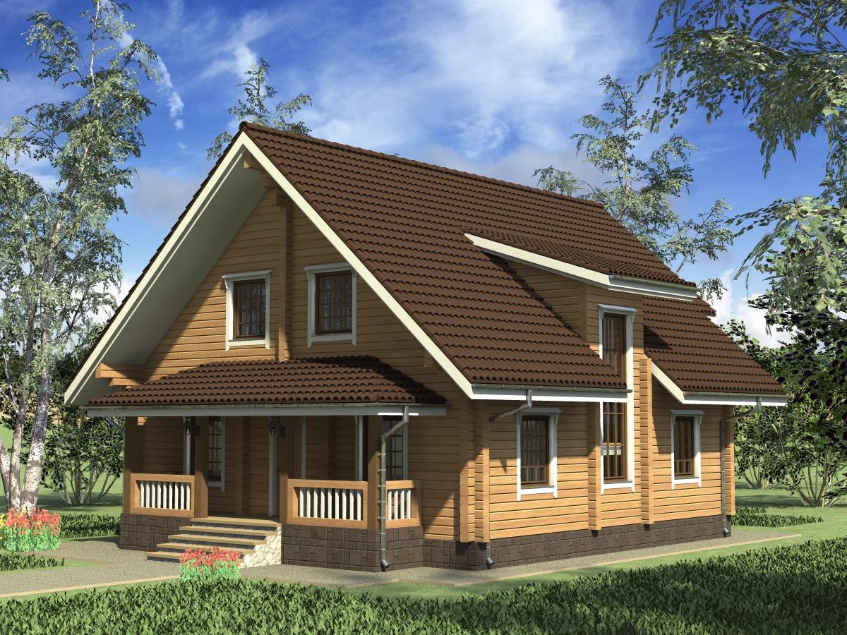 ТП-218 «Олаф». Строительство дома из клееного бруса под ключ