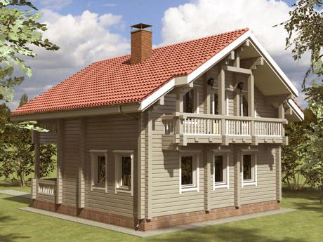 Строительство дома из клееного бруса под ключ