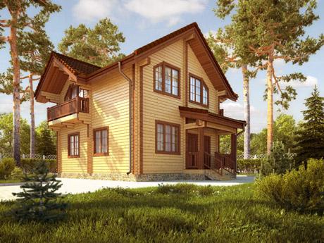 ТП-131 «Асвальд».Дом из клееного бруса двухэтажный площадью с 4 комнатами и 2 санузлами. Цена от 8,2 млн ₽. Подбор участка. Материнский капитал, кредит -9,9%