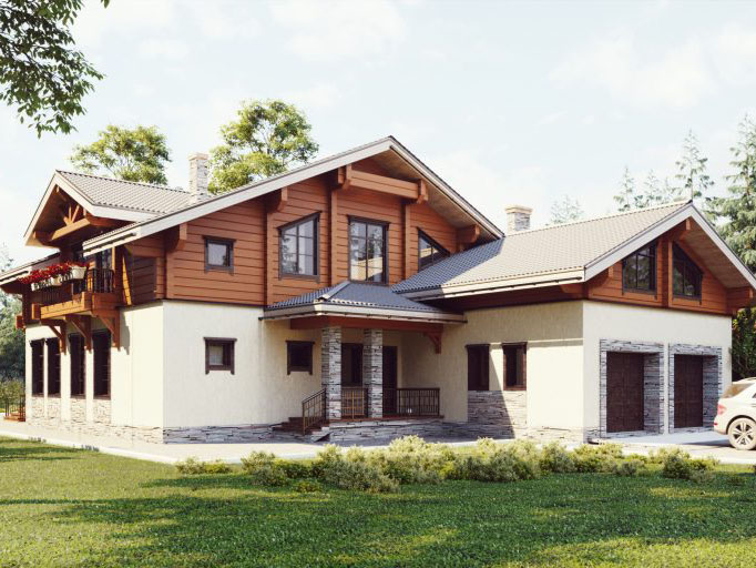 ТП-506 «Ульрика». Строительство дома из клееного бруса под ключ